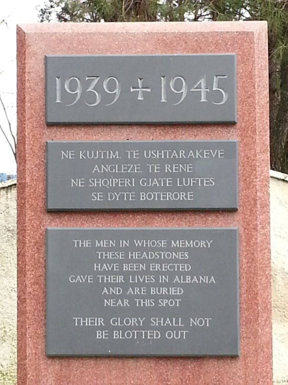Memorial at British War Graves, Tirana