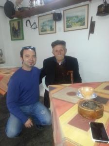 Bilbil Vangeli with Elton Caushi of Albaniantrip.com, March 2013