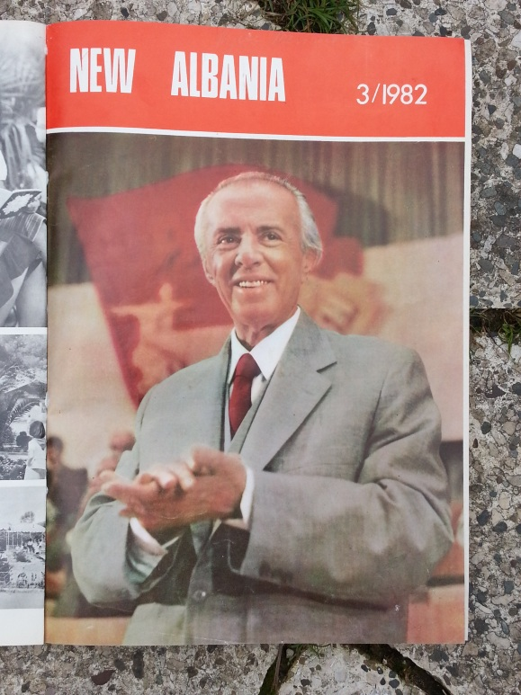 New Albania magazine, cover model Enver Hoxha