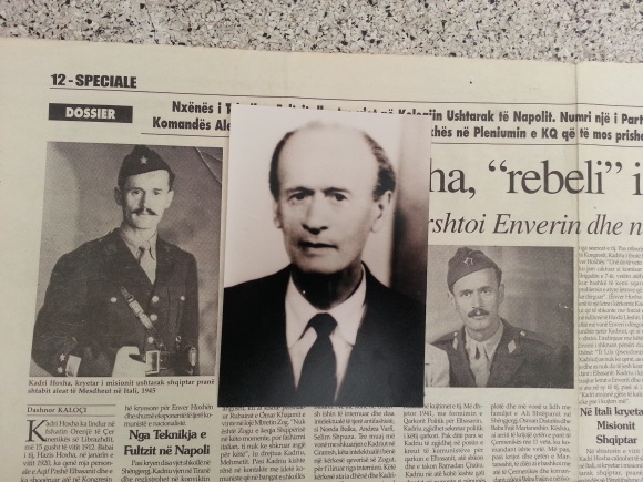 From left: Kadri Hoxha. The centre pic was taken in 1991, after over 45 years in various Albanian prisons