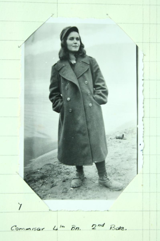 A female partisan, photographed by SOE's Bill Tilman