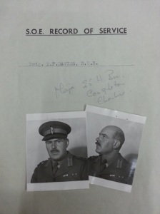 Brigadier 'Trotsky' Davies' SOE personal file (National Archives HS9/399/7)