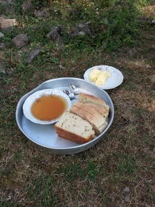 Bread and honey as served by Refek - the honey was just out of this world