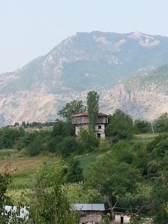 A traditional three-storey house at Orenje