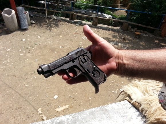 A relic of the war - an Italian Beretta automatic