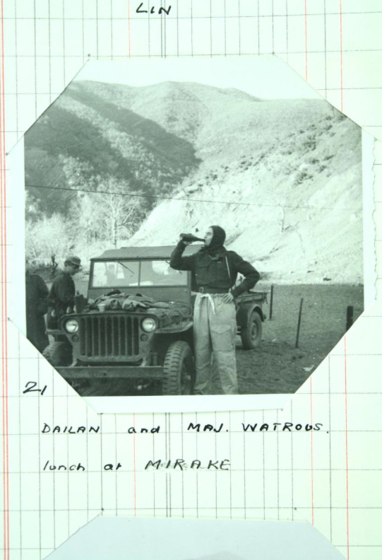 Watrous enjoys his first trip to Albania (National Archives)