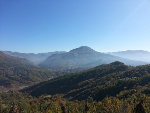 The hills of the Martanesh, viewed from Mt Dajti, October 2013