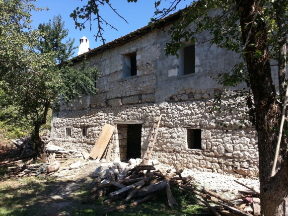 The house Brig 'Trotsky' Davies et al stayed in at Orenje in December 1943, photographed in September 2013. It is being restored by its owner, Ferit Balla, who is an enthusiast for Albania's WWII history