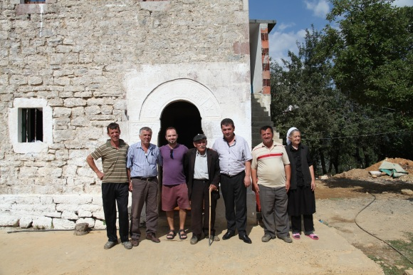 The Doçi family in Macukull, Albania